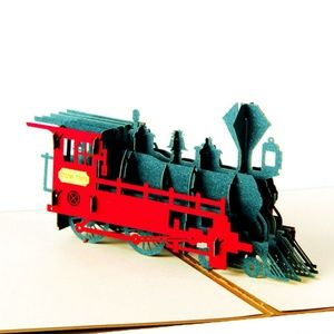 3D Train/Locomotive Pop-Up Greeting Card, OOAK 🌸